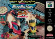 Scan de la face avant de la boite de Micro Machines 64 Turbo