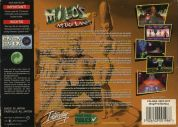 Scan of back side of box of Milo's Astro Lanes