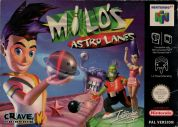 Scan of front side of box of Milo's Astro Lanes