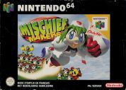Scan of front side of box of Mischief Makers