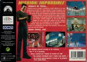 Scan of back side of box of Mission : Impossible