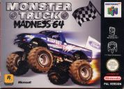 Scan of front side of box of Monster Truck Madness 64