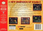 Scan of back side of box of Mortal Kombat 4