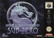 Scan of front side of box of Mortal Kombat Mythologies: Sub-Zero