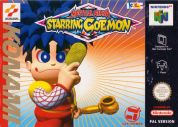 Scan of front side of box of Mystical Ninja Starring Goemon
