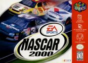 Scan of front side of box of NASCAR 2000
