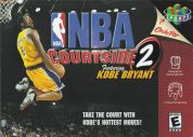 Scan of front side of box of NBA Courtside 2 featuring Kobe Bryant