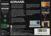 Scan of back side of box of NBA In The Zone 2000