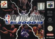 Scan of front side of box of NBA In The Zone 2000