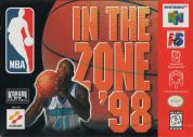 Scan of front side of box of NBA In The Zone '98