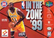 Scan of front side of box of NBA In The Zone '99