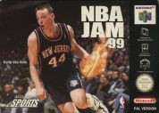 Scan of front side of box of NBA Jam '99