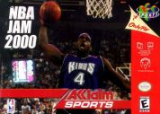 Scan of front side of box of NBA Jam 2000
