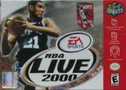 Scan of front side of box of NBA Live 2000