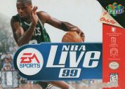 Scan of front side of box of NBA Live 99