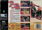 Scan of back side of box of NBA Live 99