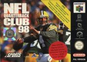 Scan of front side of box of NFL Quarterback Club '98