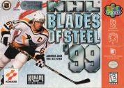 Scan of front side of box of NHL Blades of Steel '99