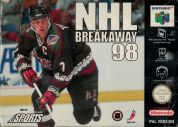 Scan of front side of box of NHL Breakaway 98