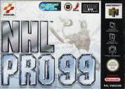 Scan of front side of box of NHL Pro 99