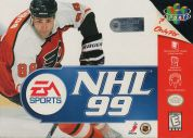 Scan of front side of box of NHL '99