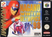 Scan of front side of box of Nagano Winter Olympics 98
