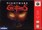 Scan of front side of box of Nightmare Creatures