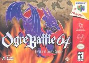 Scan of front side of box of Ogre Battle 64: Person of Lordly Caliber