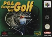 Scan of front side of box of PGA European Tour