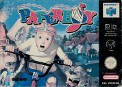 Scan of front side of box of Paperboy