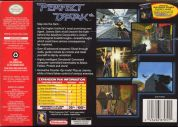 Scan of back side of box of Perfect Dark