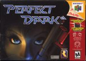 Scan of front side of box of Perfect Dark