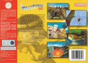 Scan of back side of box of Pilotwings 64