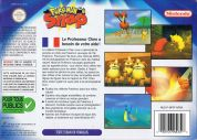 Scan of back side of box of Pokemon Snap