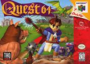 Scan of front side of box of Quest 64
