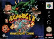 Scan of front side of box of Rampage 2: Universal Tour