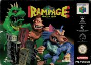 Scan of front side of box of Rampage World Tour