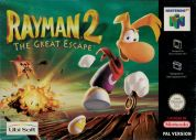 Scan of front side of box of Rayman 2: The Great Escape
