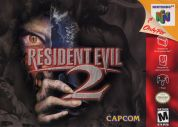 Scan of front side of box of Resident Evil 2