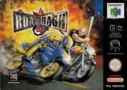 Scan of front side of box of Road Rash 64