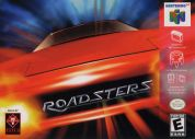 Scan of front side of box of Roadsters