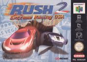Scan of front side of box of Rush 2: Extreme Racing