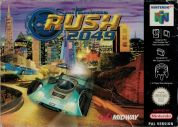 Scan of front side of box of San Francisco Rush 2049