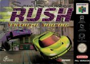 Scan of front side of box of San Francisco Rush