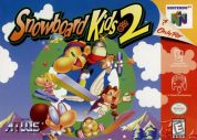 Scan of front side of box of Snowboard Kids 2
