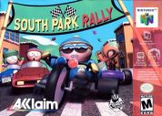 Scan of front side of box of South Park Rally