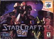 Scan of front side of box of Starcraft 64