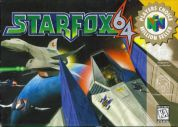 Scan of front side of box of Starfox 64