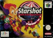 Scan of front side of box of Starshot: Paniek in het Space Circus