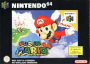 Scan of front side of box of Super Mario 64